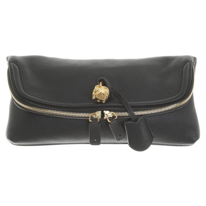 Alexander McQueen clutch in black