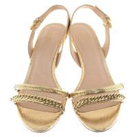 michael kors goldfarbene sandaletten second hand michael kors goldfarbene sandaletten. Black Bedroom Furniture Sets. Home Design Ideas