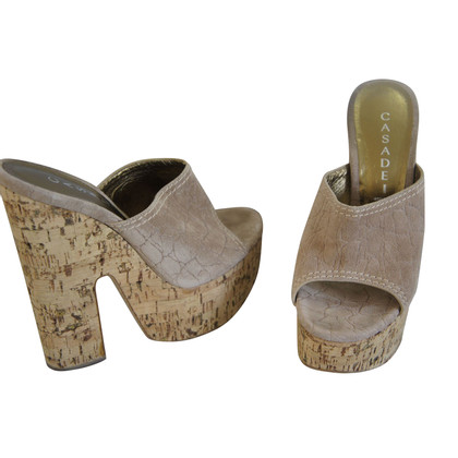 Casadei Mules with plateau sole