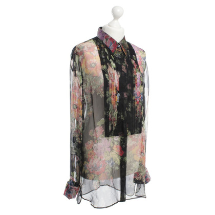 Dries van Noten Floral print silk blouse
