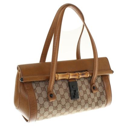 Gucci Canvas / leather handbag