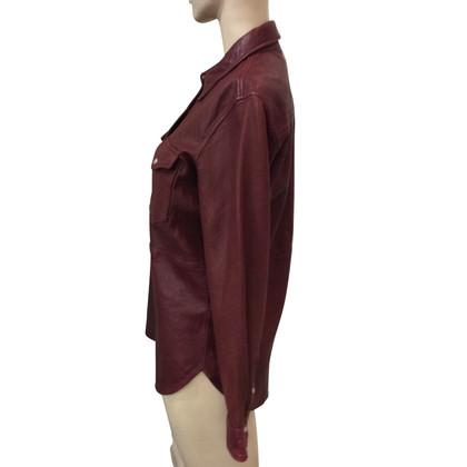 Isabel Marant Etoile Lederen shirt