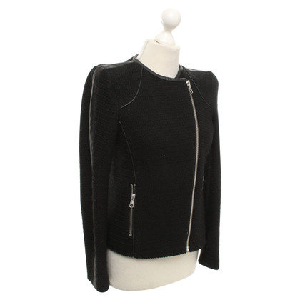 Set Boucle jacket in zwart