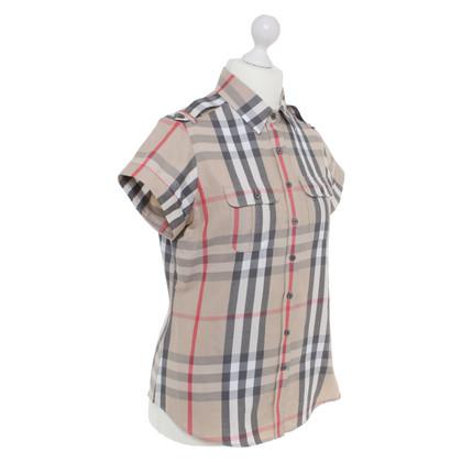 Burberry Camicetta da camicia con motivo a quadretti nova