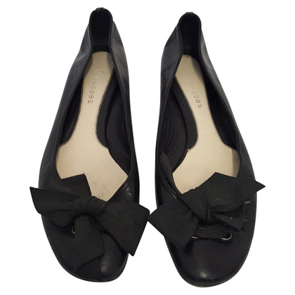 Marc Jacobs Black leather ballerinas
