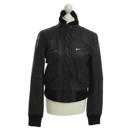 Gestuz Leather jacket in black