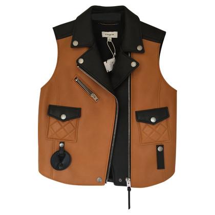 Coach Leather Sleeveless Jacket