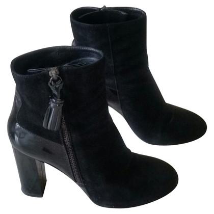 Hogan Stiefeletten aus schwarzem Leder
