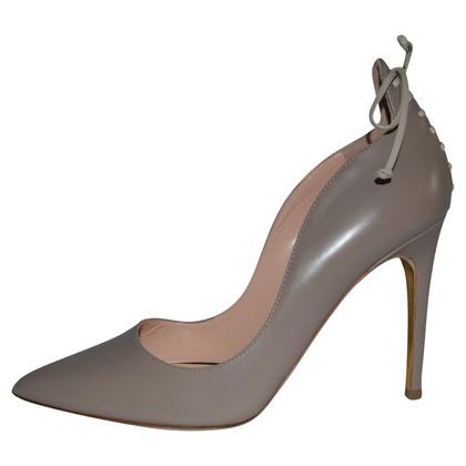 Rupert Sanderson Vanity Nude Leather High Heel Pumps