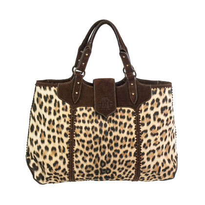 Roberto Cavalli Shoppers with animal print