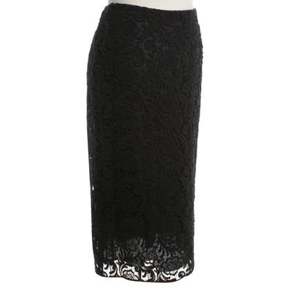 Prada Kanten rok in zwart