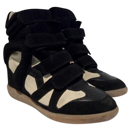 Isabel Marant Sneaker-Wedges in Schwarz/Creme