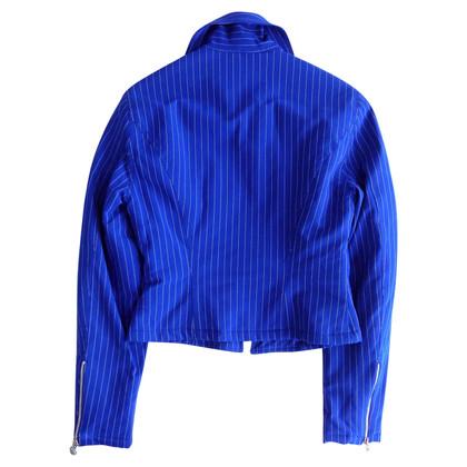 Versace Biker jacket in blue