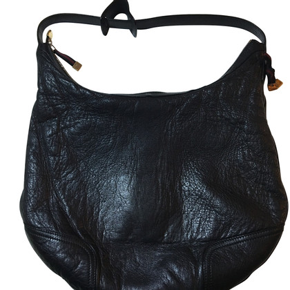 Gucci Schwarze Lederhandtasche