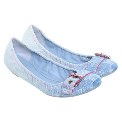 Louis Vuitton Ballerinas aus Denim