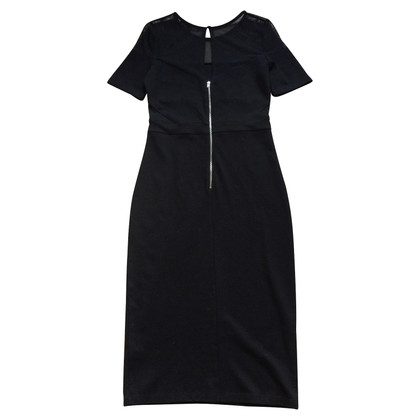 French Connection Black Mesh Dress
