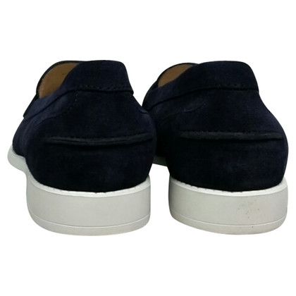Tod's Moccasins in blue suede
