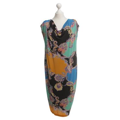 Etro Jurk met kleurrijke bloem patroon