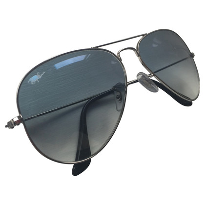 Ray Ban Sunglasses silver with light blue gradient