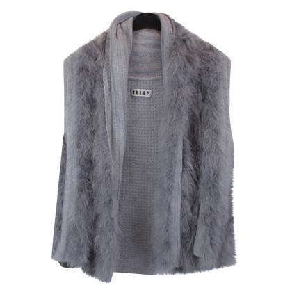 Other Designer Knitted vest with fur trim