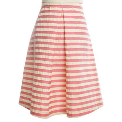 Marni striped, flared, knee-length skirt