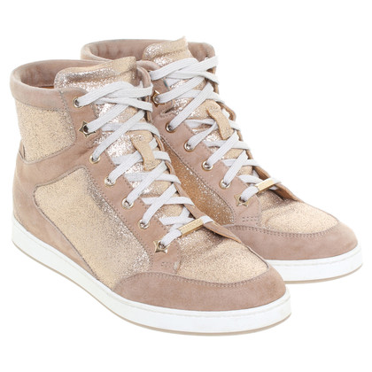 Jimmy Choo Bronze-colored sneakers