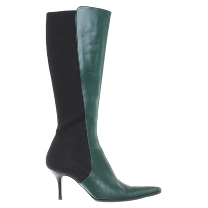 Dolce & Gabbana Green leather boots