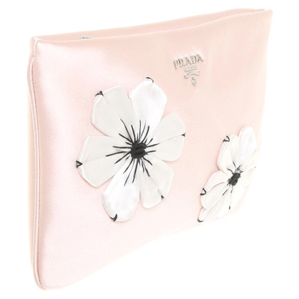 Prada clutch with floral applications
