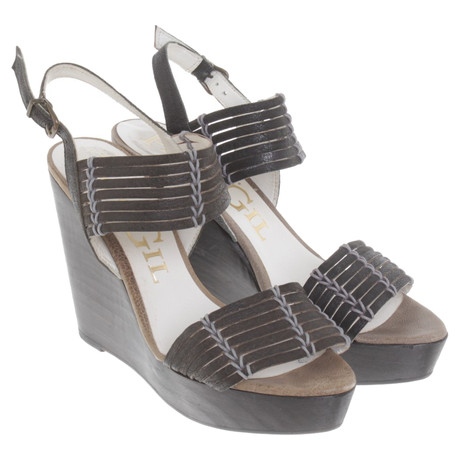 Leder aus Sandaletten Gil Paco Paco Braun Gil qHX04ww
