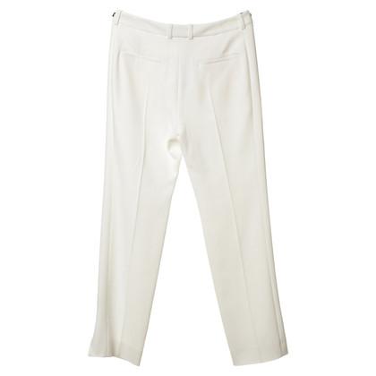 Mugler Crease trouser in white