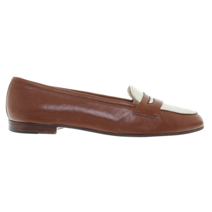 Ralph Lauren Loafer in brown / cream white