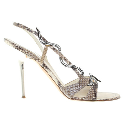 René Caovilla Sandals of snakeskin