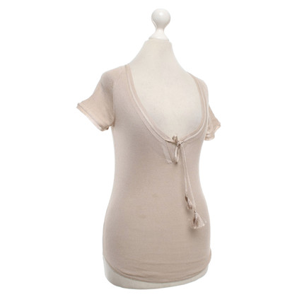 Gucci Top seta in Beige