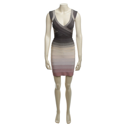 Herve Leger Mini jurk in de kleurverloop
