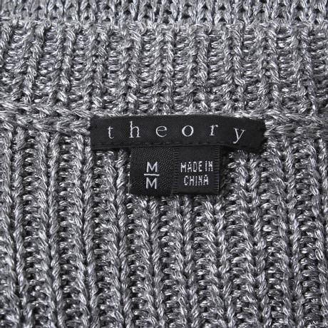 Theory Silber Pullover in Grau Silber in Grau Pullover Grau Theory wqOIPxIU7