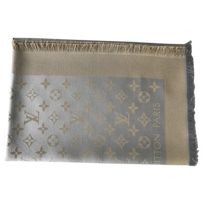Louis Vuitton Monogram Shine-panno in beige / oro