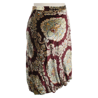 Moschino Velvet skirt with floral print