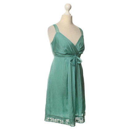 Philosophy di Alberta Ferretti Silk dress with lace