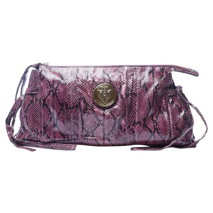 Gucci Purple Python Clutch