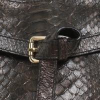 Andere merken Abro - reptiel lederen handtas
