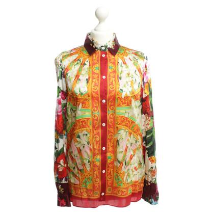 Dolce & Gabbana Zijden blouse met patroon mix