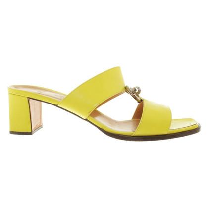 Hermès Sandali in giallo neon