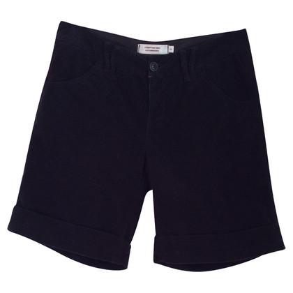 Comptoir des Cotonniers Shorts aus schwarzem Samt