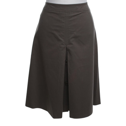 Loro Piana Issued skirt in brown