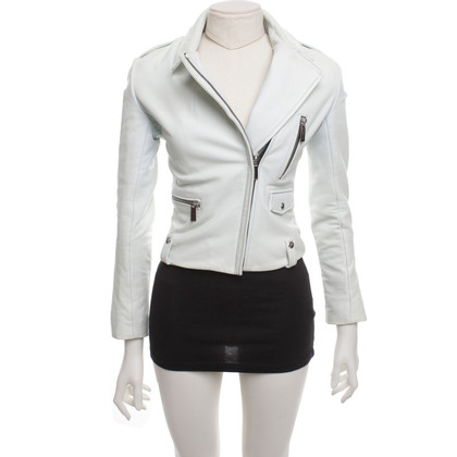 Barbara Bui Leather jacket in light blue