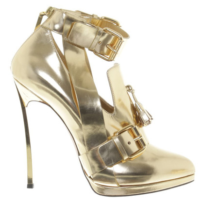 Casadei Gold colored ankle boots