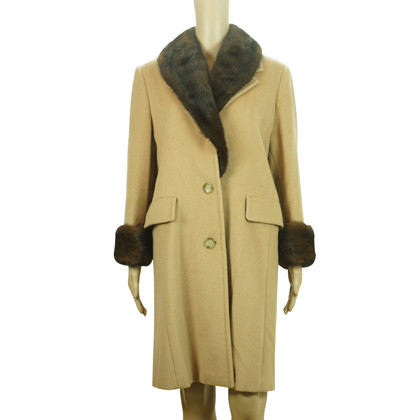 Max Mara Wool coat with fur