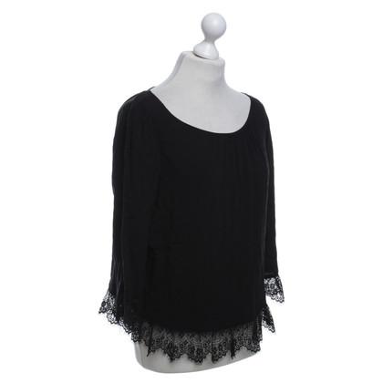 Velvet Blouse in black