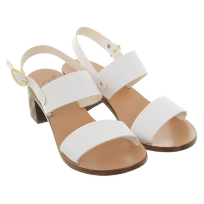 Ancient Greek Sandals Sandals in white