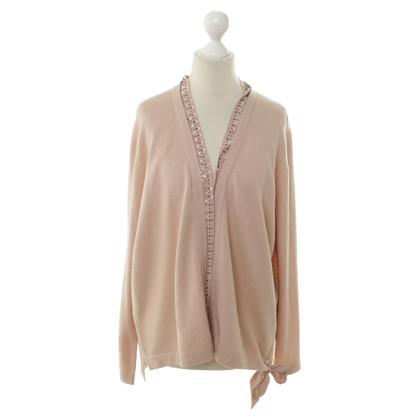 Luisa Cerano Knitted Cardigan with decorative stone trim